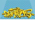 Download STL file Graffiti 3d model print  • 3D printing object, MISS_POWERFUL