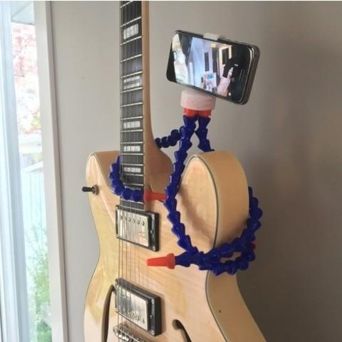 Fichier imprimante 3D gratuit Trépied téléphonique (s'adapte à la plupart des téléphones!), wildrosebuilds