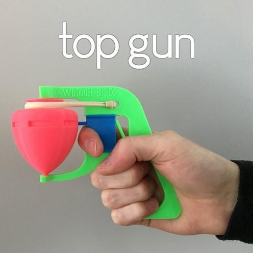 Download free 3D printer templates Elastic Top Gun!, wildrosebuilds