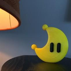 Imprimir en 3D gratis Power Moon de Mario Odyssey!, wildrosebuilds