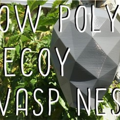 Free 3d printer designs Low Poly Decoy Wasp Nest, wildrosebuilds