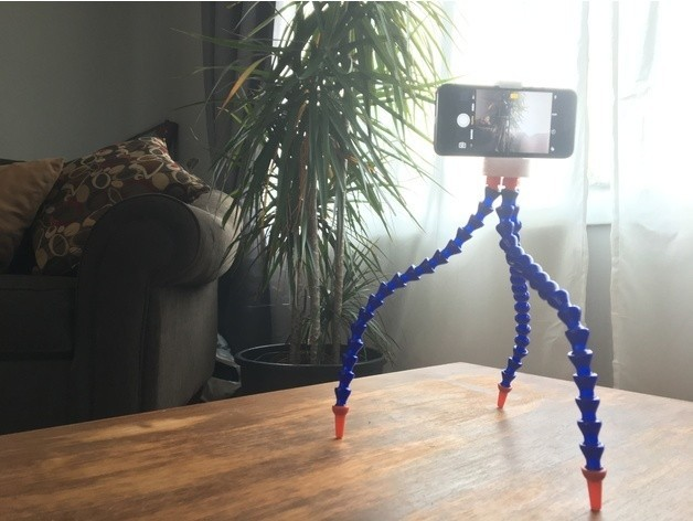 637ef34c68eb1a9462fb9afab6fcb343_preview_featured.JPG Download free STL file Phone Tripod (fits most phones!) • 3D printer object, wildrosebuilds