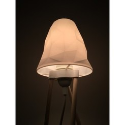 Download free STL files Dowel Lamp with low poly shade!, wildrosebuilds