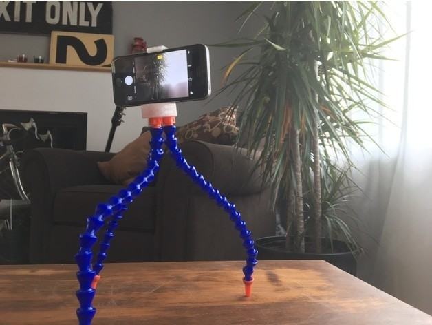 c55d960b68bff3c5cab0490c0fe6fd35_preview_featured.JPG Download free STL file Phone Tripod (fits most phones!) • 3D printer object, wildrosebuilds