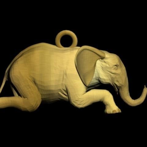 Fichier STL éléphant à genoux, AramisFernandez