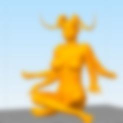 Sin título.png Download free STL file cell phone stand kali meditation • 3D printing design, AramisFernandez