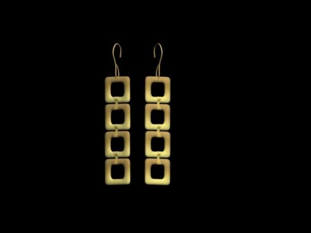 earrings1.jpg Download STL file earrings squares • 3D printable model, AramisFernandez