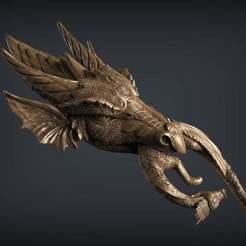 Impresiones 3D gratis cabeza de madre dragon, AramisFernandez
