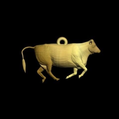 cow pendant.jpg Download STL file cow pendant • 3D printing design, AramisFernandez