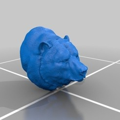 Download free 3D printer files bear head, AramisFernandez