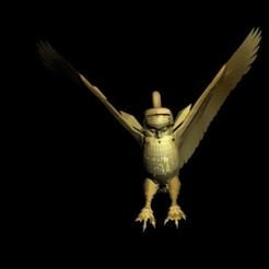 Fichier 3D pendentif hibou, AramisFernandez