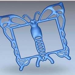 Télécharger fichier imprimante 3D gratuit photo de cadre papillon, AramisFernandez