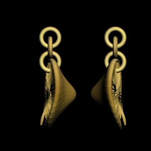 Diseños 3D pileus mushroom pendant earrings, AramisFernandez