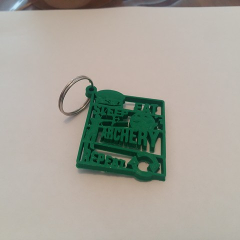 2018-08-29 17.12.09.jpg Download STL file Archery Keychain - EAT SLEEP REPEAT • Object to 3D print, Be3DArg