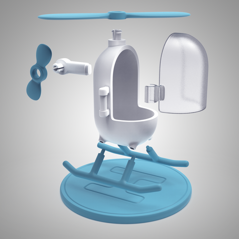 7.png Download free STL file Little Heli • 3D print model, meshtush