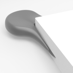 Free 3d printer designs Corner Bookmark, meshtush
