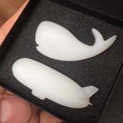 Archivos 3D gratis Broche de ballena, meshtush