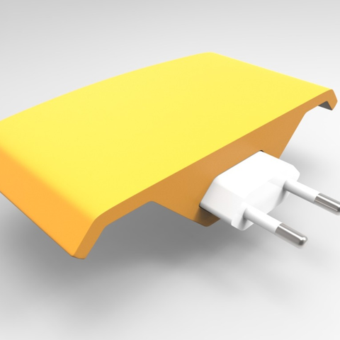 Download free STL file iPhone Power Socket Shelf • 3D printing design, meshtush