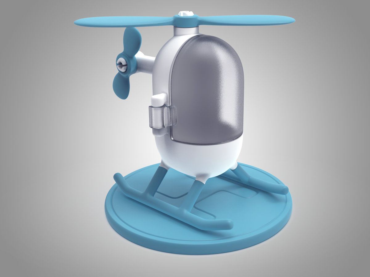 8.png Download free STL file Little Heli • 3D print model, meshtush