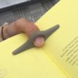 Free STL Book Pages Holder, meshtush