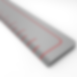 Download free STL file Ruler (metric) • Object to 3D print, meshtush