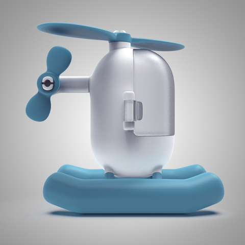 4.png Download free STL file Little Heli • 3D print model, meshtush
