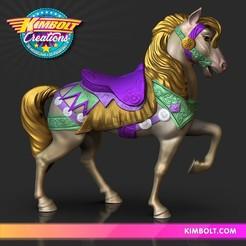 Télécharger plan imprimante 3D Cheval de carrousel, Kimbolt