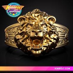 Download 3D printing models Lion Ring, Kimbolt