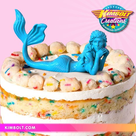 Download 3D printing models Mermaid - no supports!, Kimbolt
