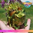 3D print files Froggy Planter - no supports, Kimbolt