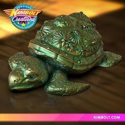 FancyTurtleBox.jpg Download OBJ file Fancy Turtle Box • 3D printable object, Kimbolt