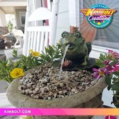 FroggyFountain_01.jpg Télécharger fichier STL Fontaine grenouille • Plan imprimable en 3D, Kimbolt
