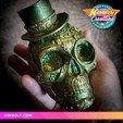 Download 3D printer designs Steampunk Skull, Kimbolt