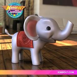 Download 3D printing designs Baby Elephant, Kimbolt