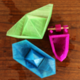 Free 3D printer designs Paper boat with propels, Gonzalor