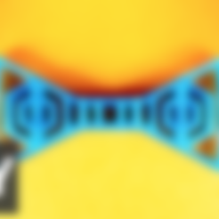 Free 3d printer files Two level bow tie, Gonzalor