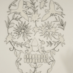 Download free 3D printing models Skull mural, Gonzalor