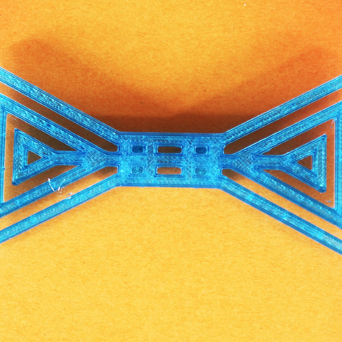 Free Bow tie of triangles 3D model, Gonzalor