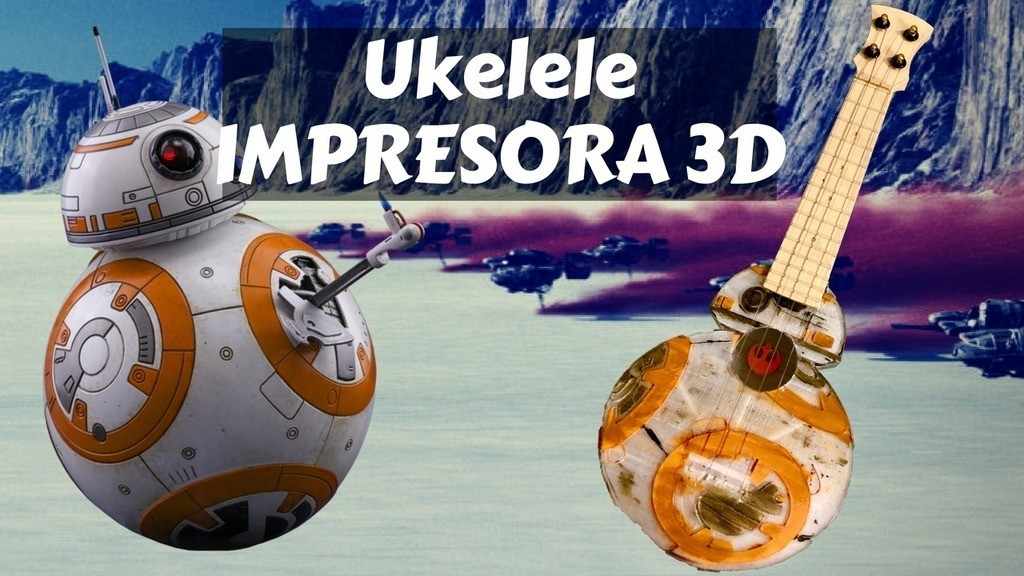 cb82d1894a2f6229d5b839f60808f1bd_display_large.jpg Download free STL file Ukelele - Ukulele BB8 Star Wars • Template to 3D print, Gonzalor