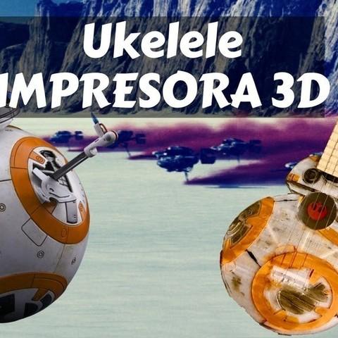 Free 3D print files Ukelele - Ukulele BB8 Star Wars, Gonzalor