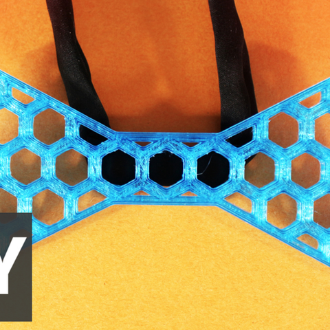 Free Honeycomb bow tie 3D printer file, Gonzalor