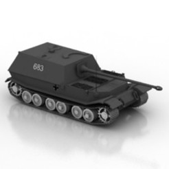 Download free 3D printing models Tank Elefant (Ferdinand) Model, filamentone