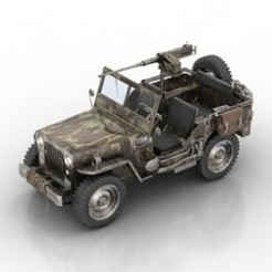 Download free 3D printer templates Willys MB Armored Jeep, filamentone