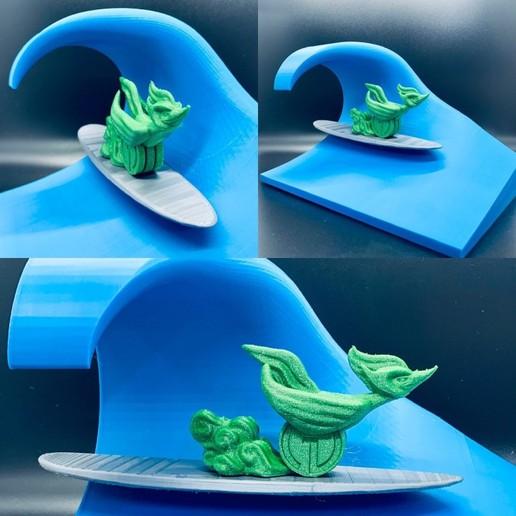 Download free STL file Big Wave Surfing, filamentone