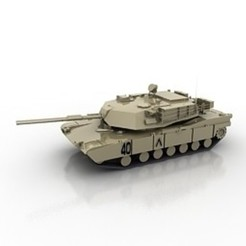 Download free 3D printer designs Tank M1 Abrams Model, filamentone