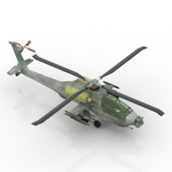 Download free 3D printer designs Helicopter AH-64 Apache, filamentone