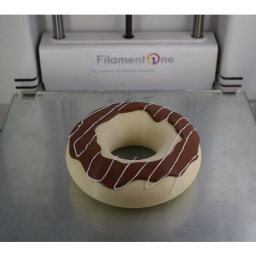 Download free 3D printing designs 2 Color Donut, filamentone