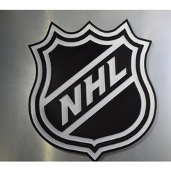 Download free 3D model NHL Dual Color Logo, filamentone
