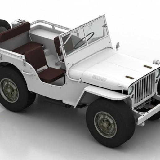 Download free STL file 1945 Willys MB Jeep Forza Horizon, filamentone
