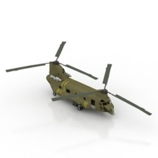 Download free 3D printer designs Helicopter CH-47 Chinook, filamentone